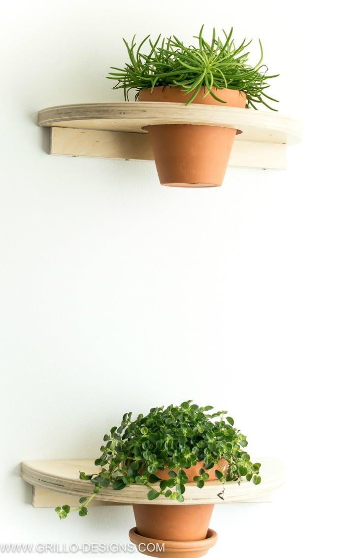 Plant shelves tutorial IKEA FROSTA hack