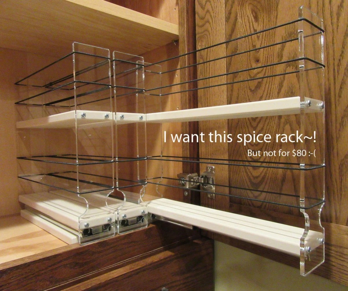 Vertical Spice Pull Out Spice Rack