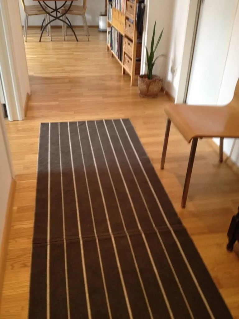 Hall Of Stripes A Hallway Runner Rug Diy Ikea Hackers
