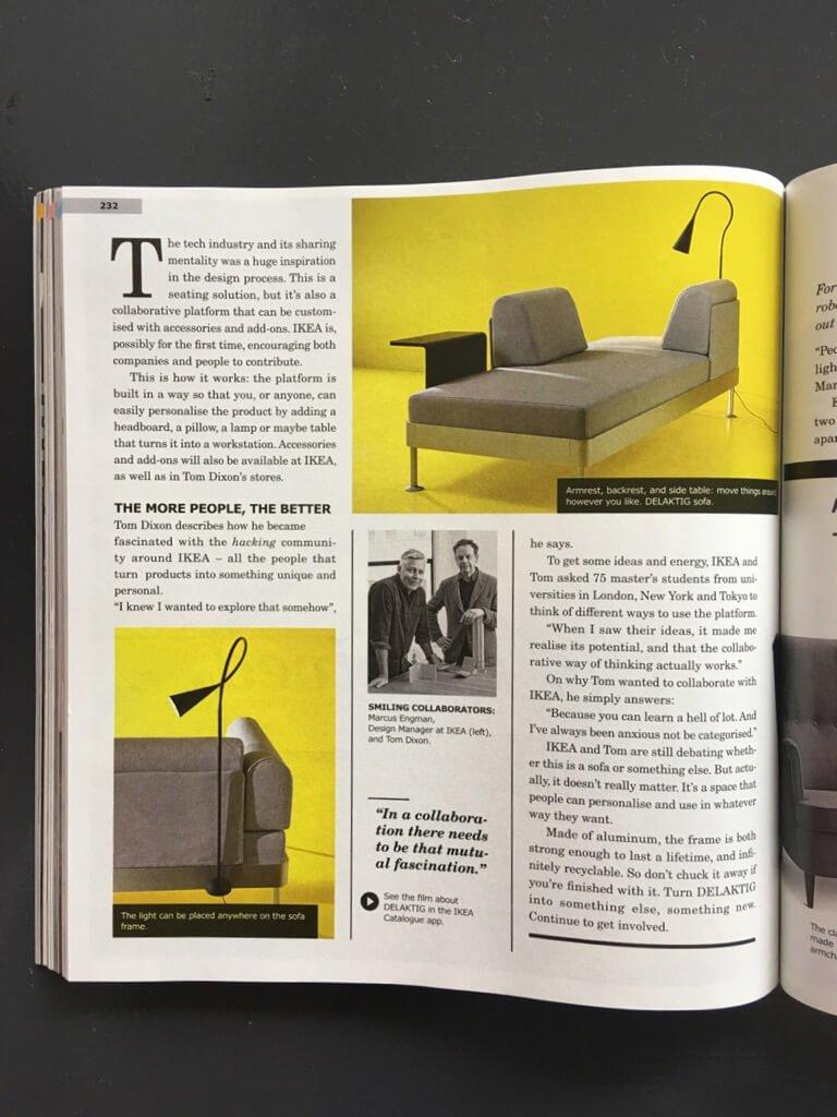 IKEA catalog 2018 Delaktig Tom Dixon collaboration