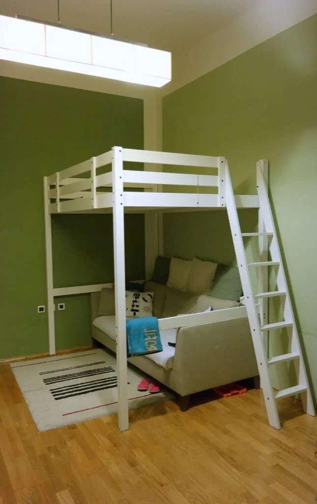 Stor 197 Loft Bed To Loft Office Ikea Hackers