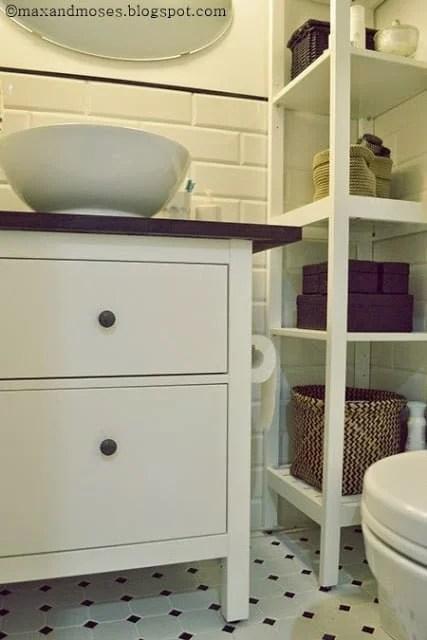 Bathroom Vanity Extended Over Toilet: My Customized HEMNES Small Bathroom Vanity