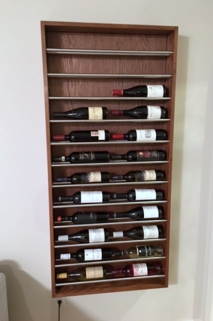 Wall Wine Rack A Brogrund Towel Rail Hack Ikea Hackers