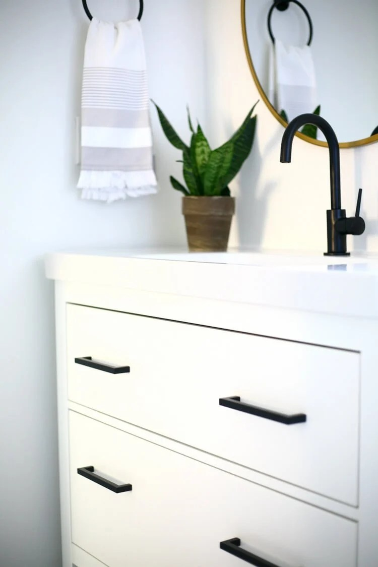 Hemnes Black And White Vanity Makeover Ikea Hackers