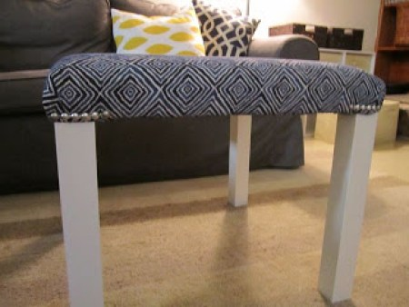 Upholstered Hack A Lack With Nailhead Trim Ikea Hackers