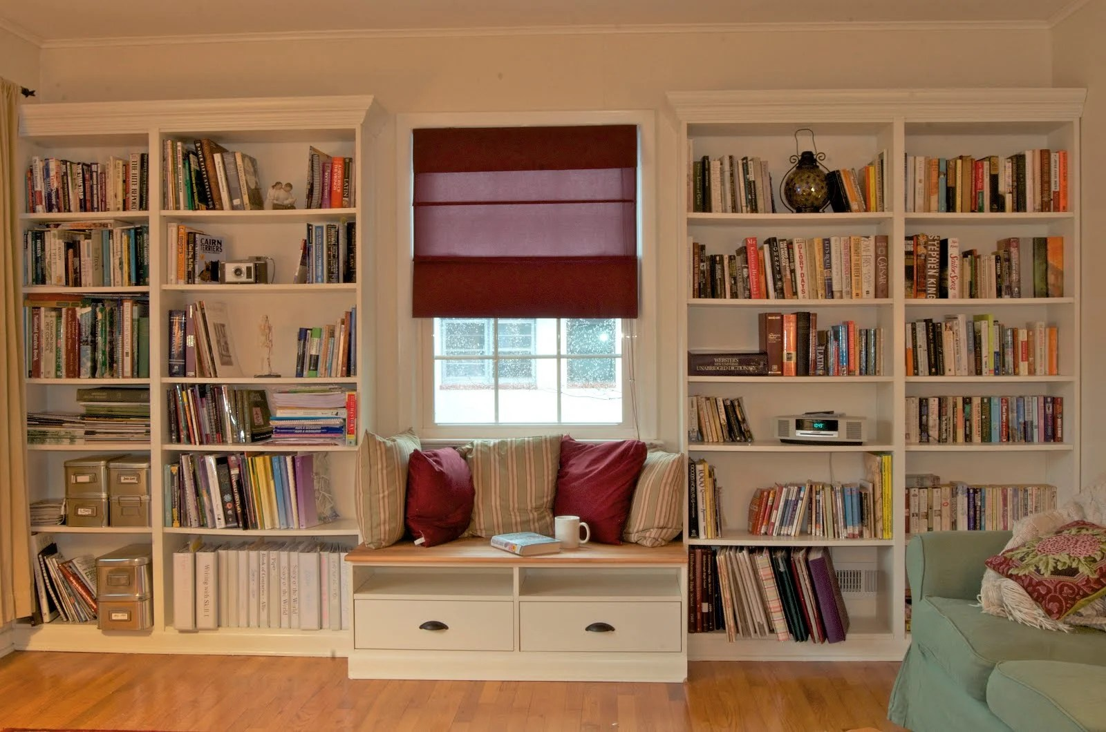 built in bookshelves with window seat for under 350 ikea hackers - Ikea Built In Bookshelves