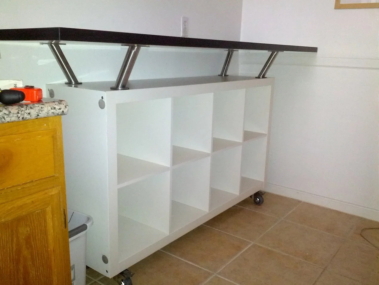 Breakfast Bar With Lot Of Storage Space Ikea Hackers