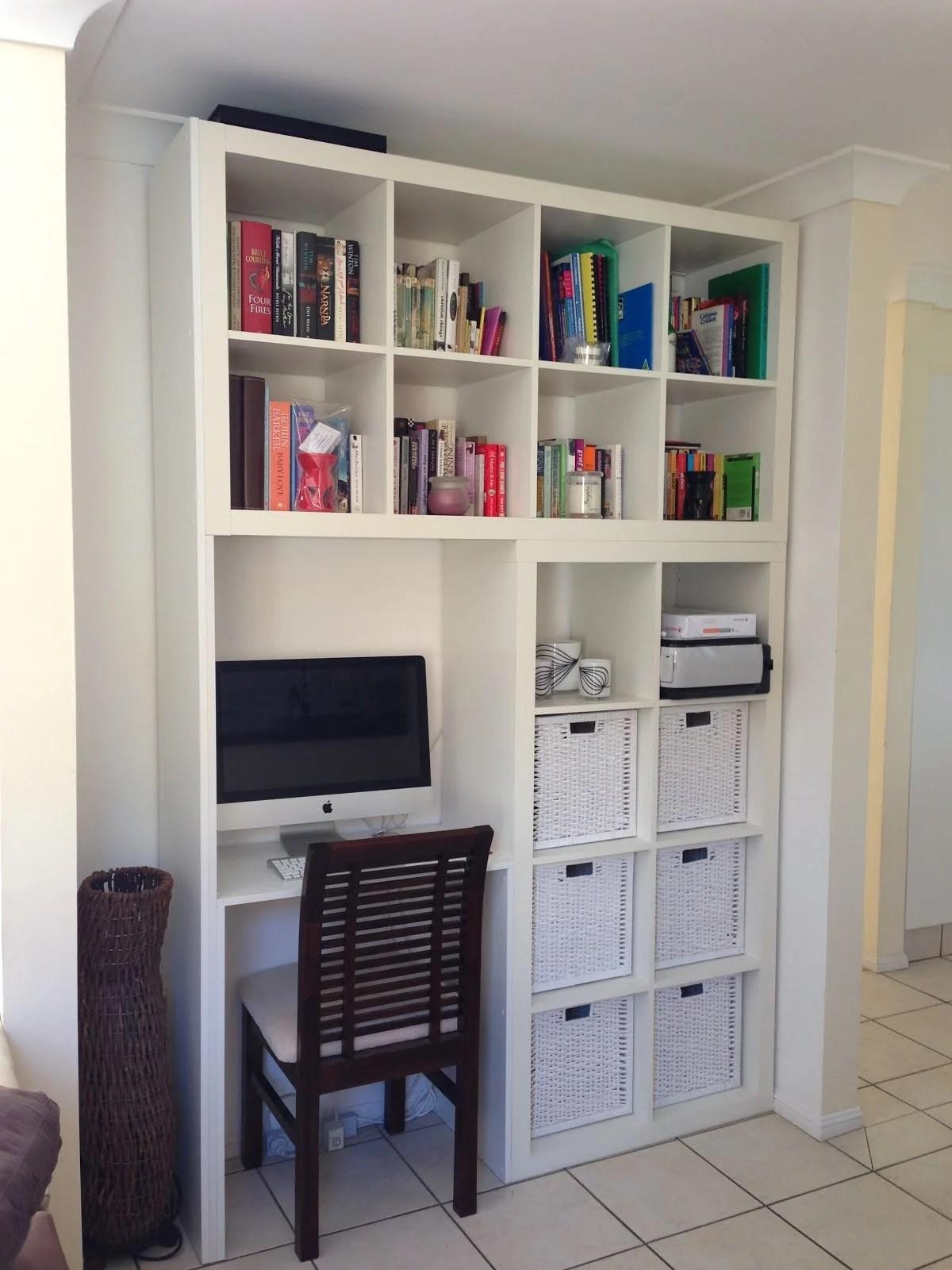 Custom Designed Wall Unit Computer Desk Book Shelf Ikea