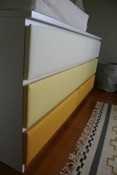ikea malm drawers change table nursery upholstery makeover ikea hackers. Black Bedroom Furniture Sets. Home Design Ideas