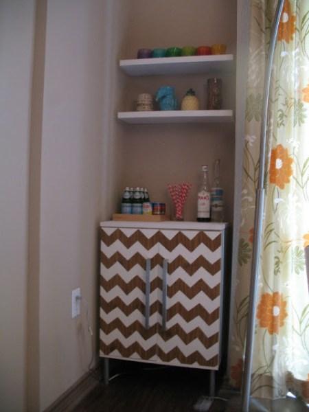 chevron bar cabinet