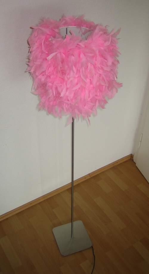 Fancy Feather Boa Lamp Ikea Hackers