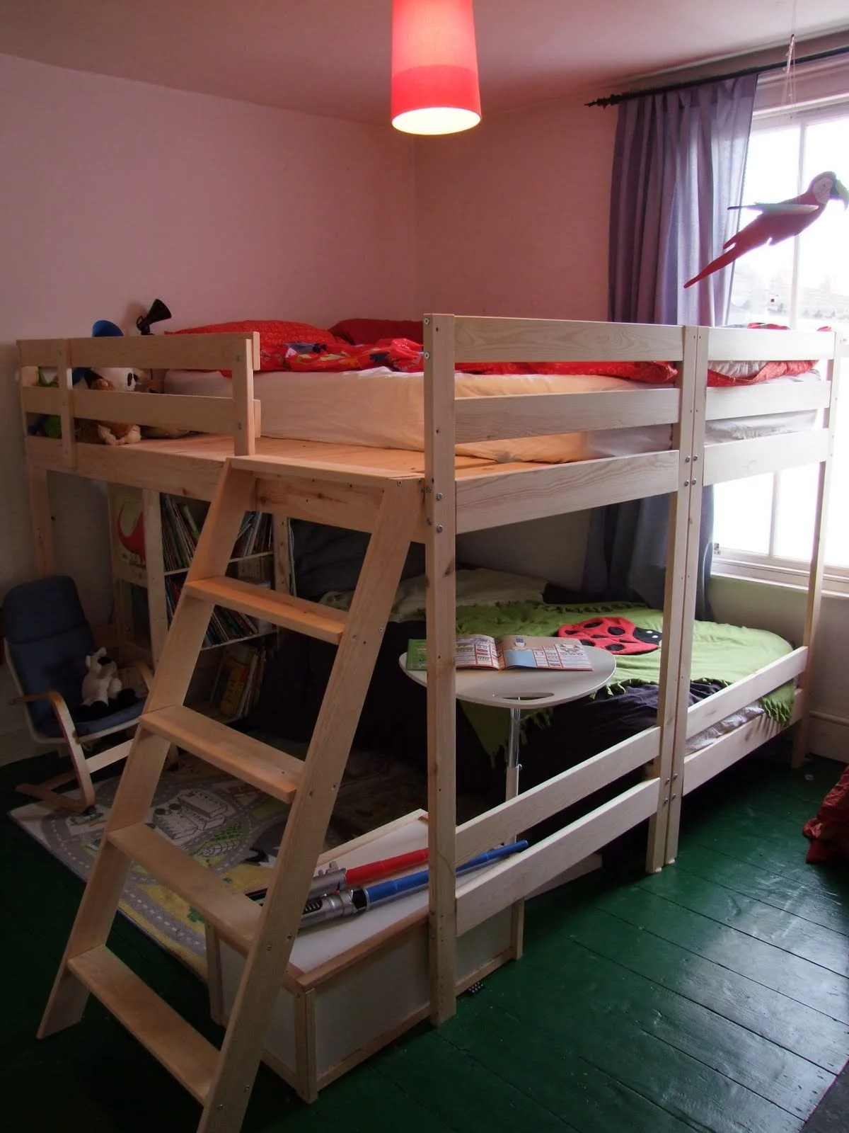 Nice Materials MYDAL bunk beds x saw drill a few extra screws