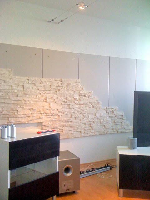 steinwand im wohnzimmer | abenteuer bau, Wohnideen design