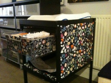 IKEA Sniglar changing table makeover