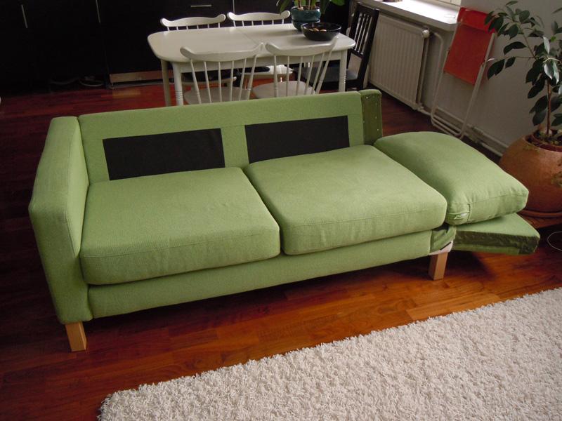 39 karlstad sofa 39 becomes a 39 karlstad sofa bed 39 ikea hackers. Black Bedroom Furniture Sets. Home Design Ideas