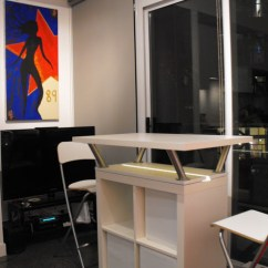 Kitchen Island With Bar Seating Marble Counters Expedit Mobile - Ikea Hackers