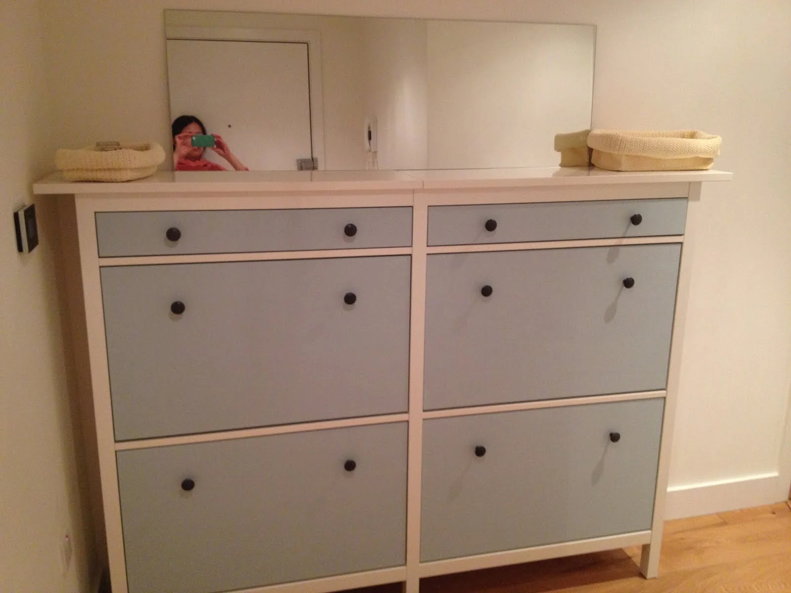 wedded hemnes shoe cabinets twined and painted ikea hackers. Black Bedroom Furniture Sets. Home Design Ideas