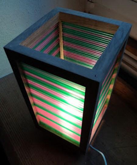 Straw lampshade