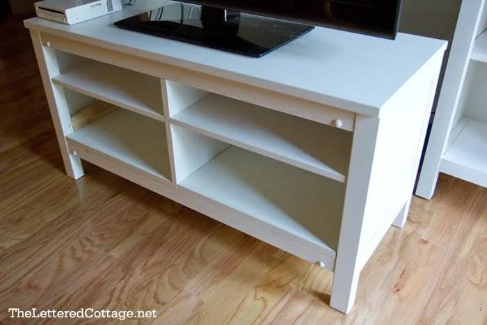 Hemnes TV Stand Adding Shelves IKEA Hackers