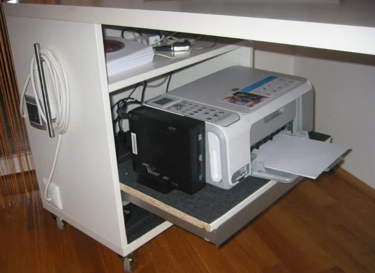 Computer Table With Shelf For Printer Ikea Hackers
