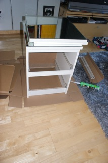 Mirror Bedside Table Feat Malm Minde Ikea Hackers