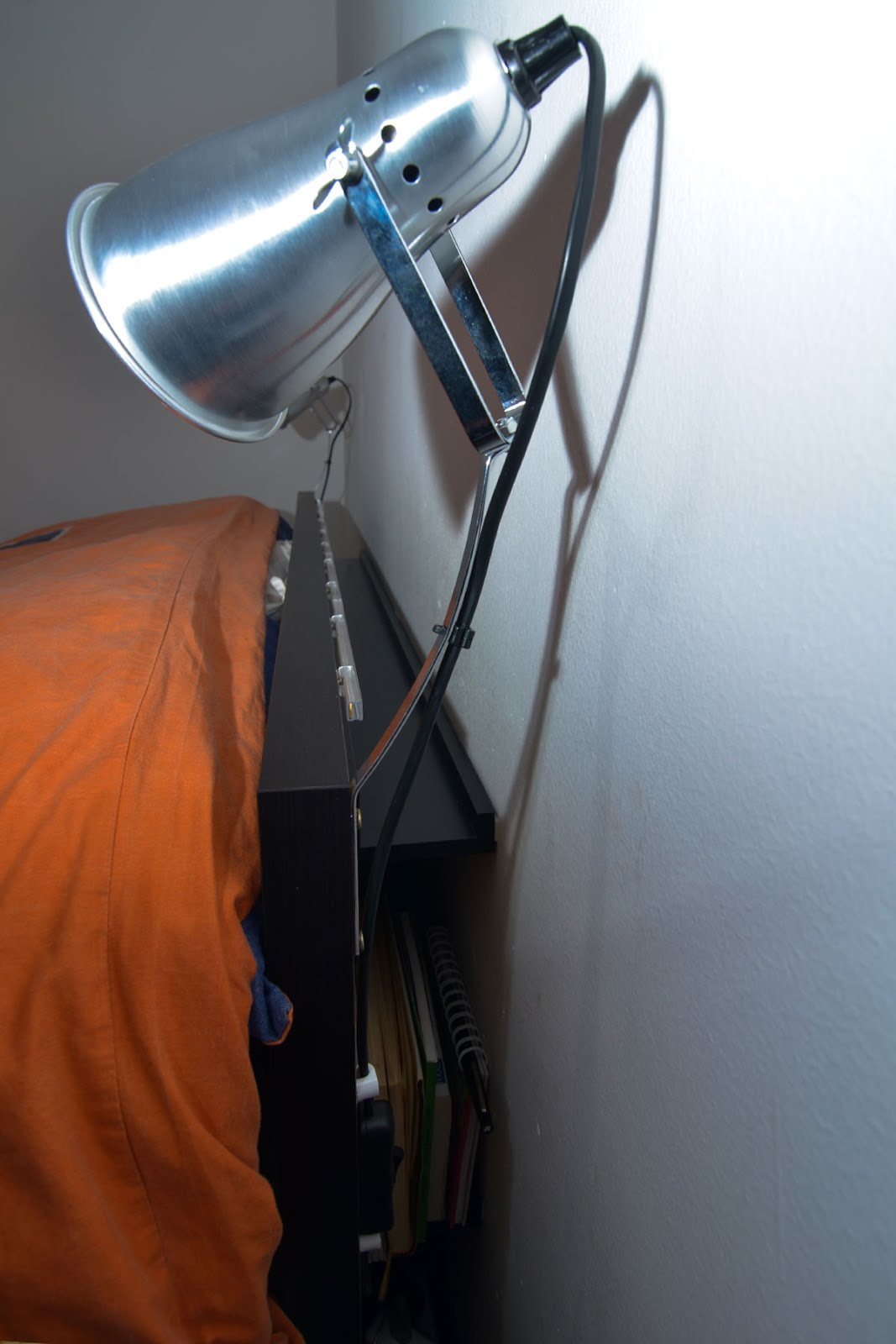 Ikea Ribba Picture Ledge Square Headboard With Space To Hide Electricals Ikea Hackers