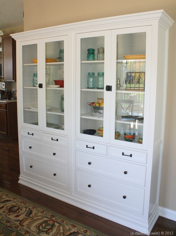 Charming Description: We Used Two Hemnes Cabinets To Make A Custom Built In China  Cabinet In Our Kitchen.