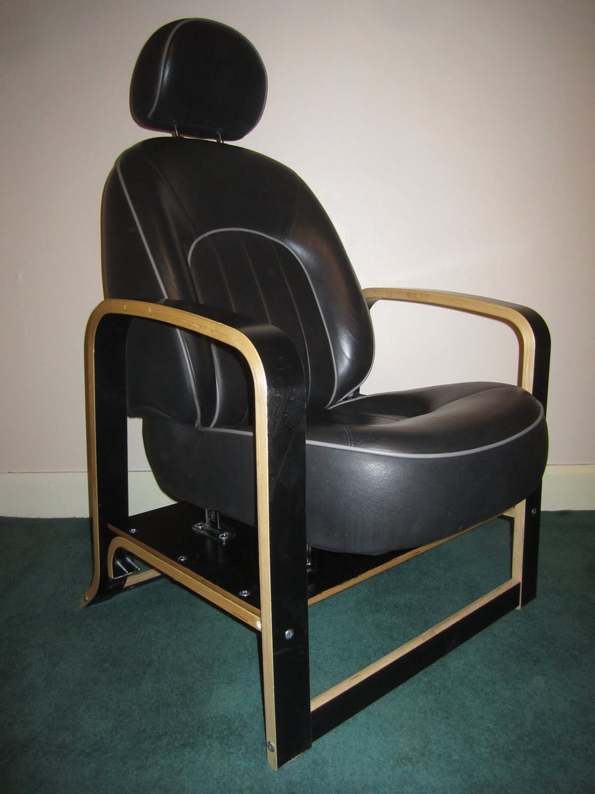 My Ikea Hack follows the same theme utilising a black leather Rover car seat and an Ikea Poang chair frame for the legs and arm rests. & Rover/Poang Chair - IKEA Hackers