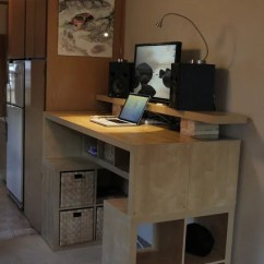 Retro Chair Step Stool Open Back Expedit Standing Desk - Ikea Hackers