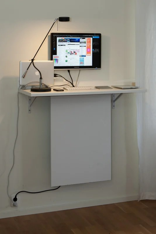 Standing Desk With Quot Invisible Quot Data Storage Ikea Hackers