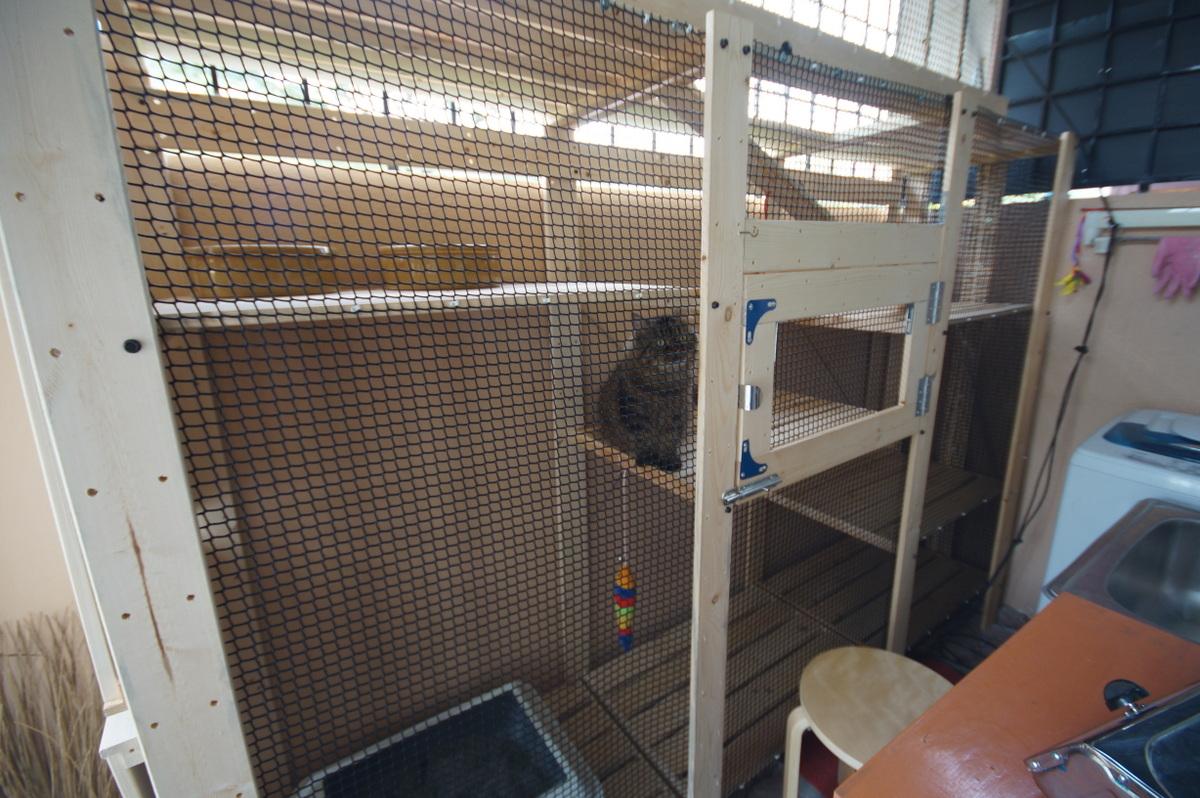 Gorm shelves into a fantabulous cat house - IKEA Hackers