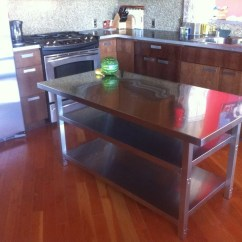 Metal Kitchen Island Pics Of Islands Stainless Steel Cart Ikea Hackers
