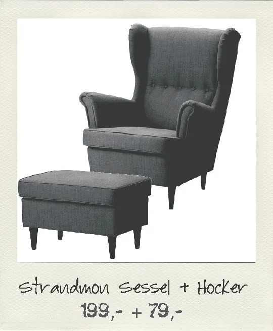 reupholstered ikea strandmon chair and painted frame. Black Bedroom Furniture Sets. Home Design Ideas