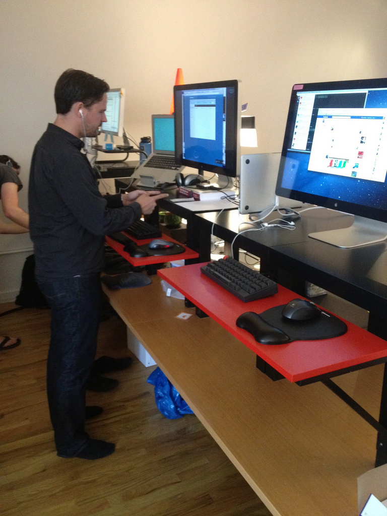 On Off Standing Desk A Lack Desk Add On Ikea Hackers