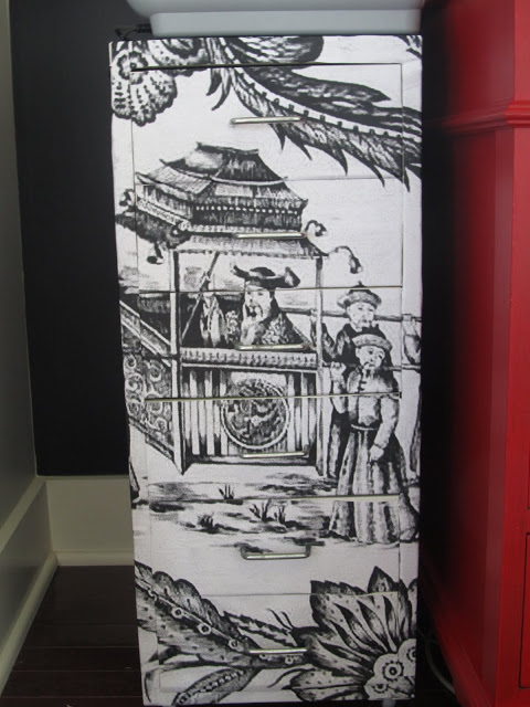 chinoiserie on HELMER metal cabinet