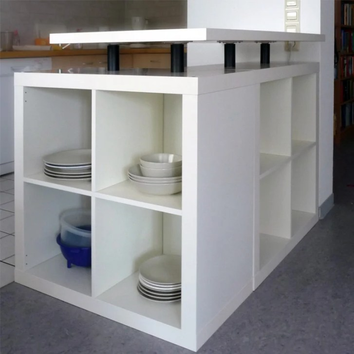 Shaped Expedit Kitchen Island Hackers