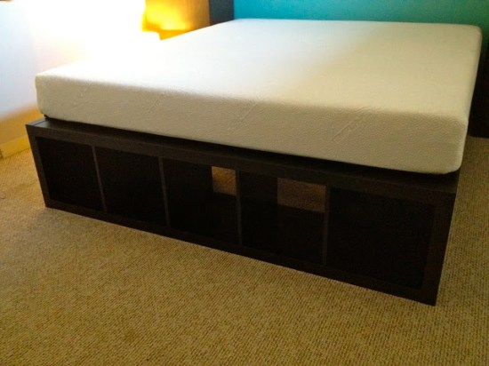 finally a cal king bed frame with space for dog kennels ikea hackers. Black Bedroom Furniture Sets. Home Design Ideas