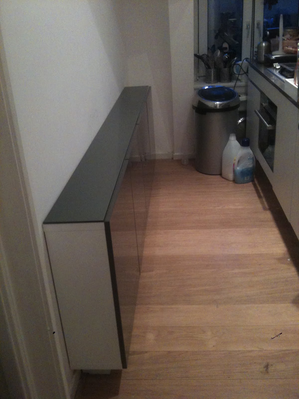 Boring Besta to skinny, floating kitchen cabinet IKEA Hackers