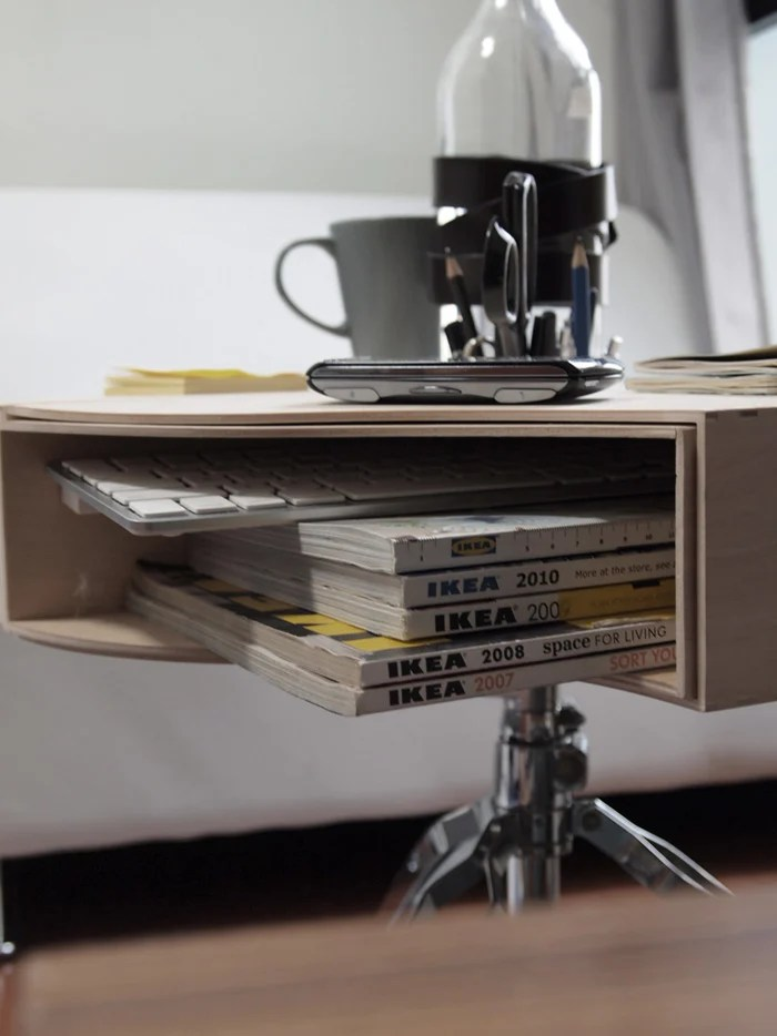 this is an easy hack for everyone with no heavy duty works involved all you need is liquid nail to secure everything in place like in the picture - Table Transformable Ikea