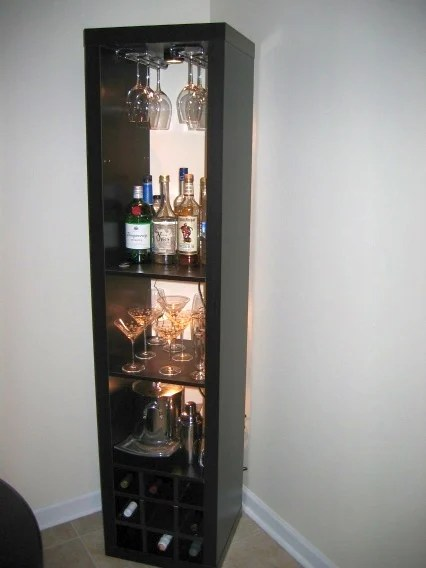 Expedit wine rack and bar ikea hackers for Corner bar cabinet ikea