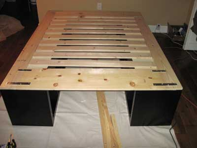 expedit 39 s were made for sleepin 39 ikea hackers. Black Bedroom Furniture Sets. Home Design Ideas