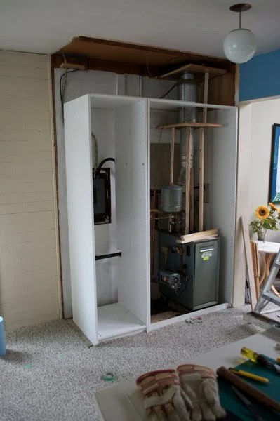 Cabinet To Hide The Boiler And Fuse Box Ikea Hackers
