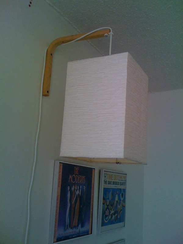 hanging wall light ikea hackers