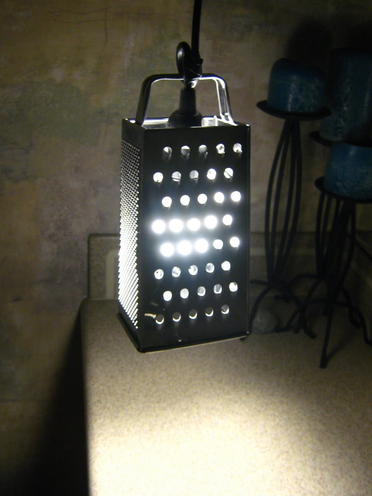 10 Minute Cheese Grater Lamp Ikea Hackers