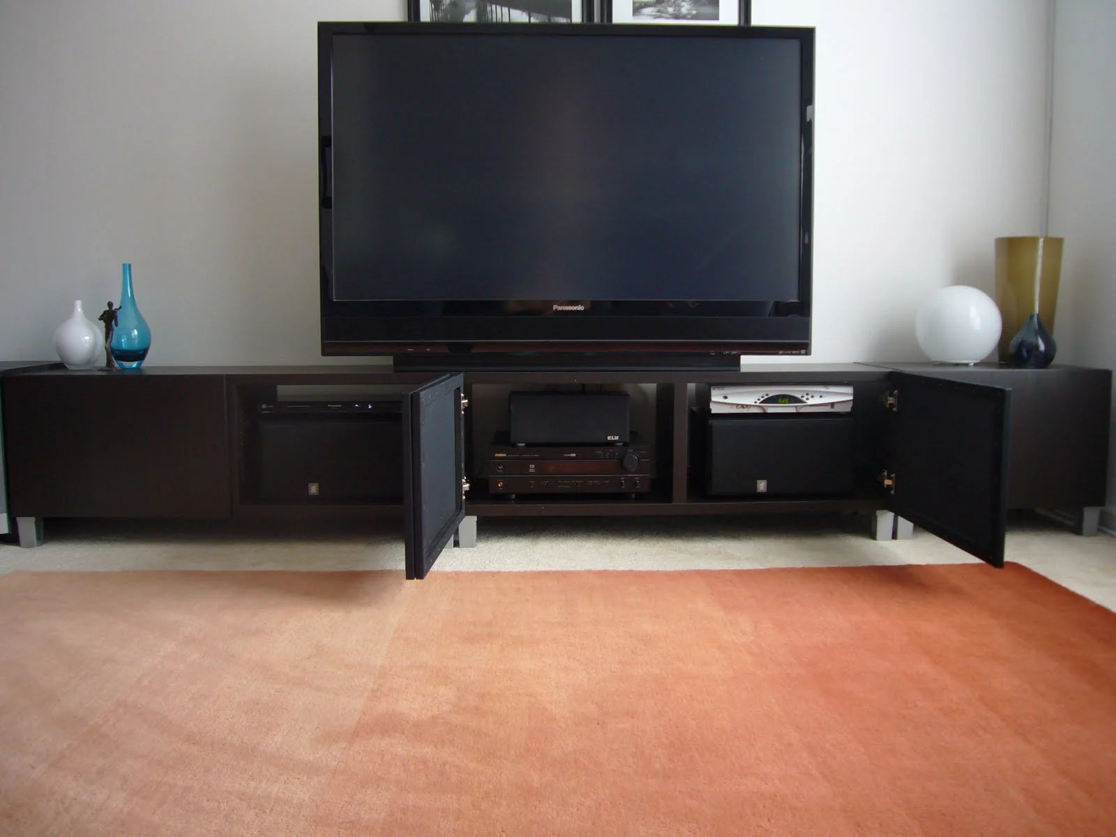 Contemporary concealed entertainment center ikea hackers for Entertainment cabinets ikea