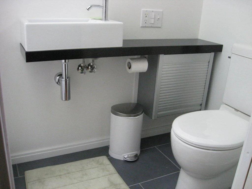 Bath vanity from appliance cabinet ikea hackers for Bathroom appliances