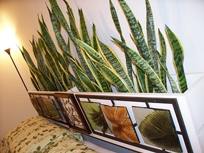 A Plant Headboard makes a Unique Headboard