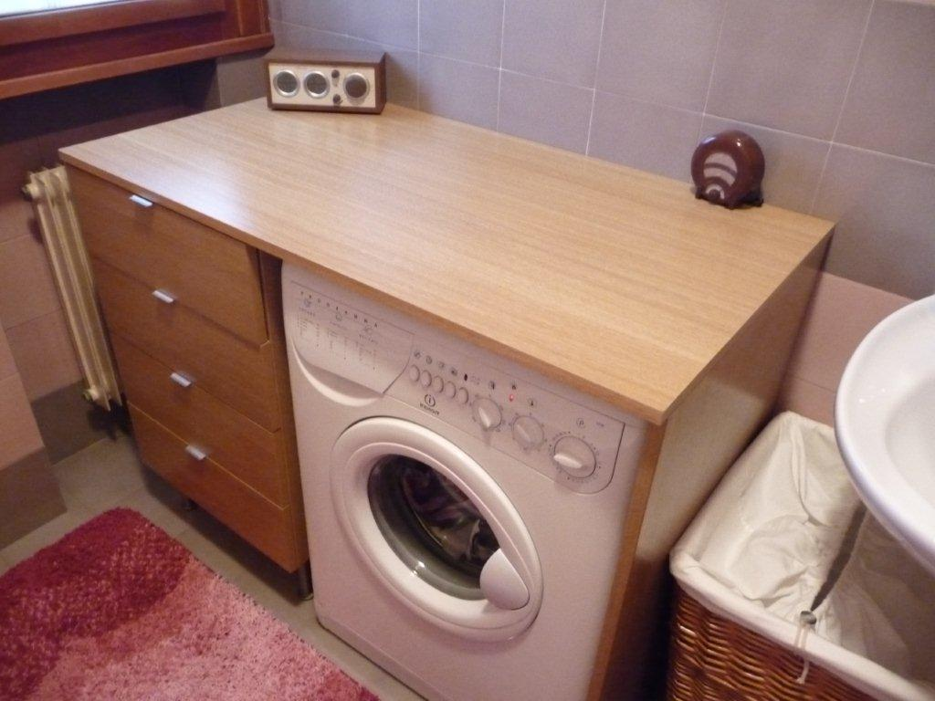 Cabinet and washing machine frame ikea hackers for Kitchen cabinet washing machine