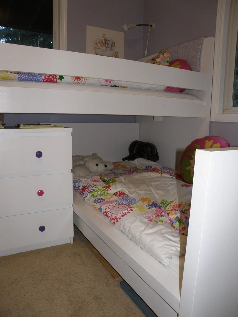 malm toddler bed under malm inspired bunk ikea hackers. Black Bedroom Furniture Sets. Home Design Ideas