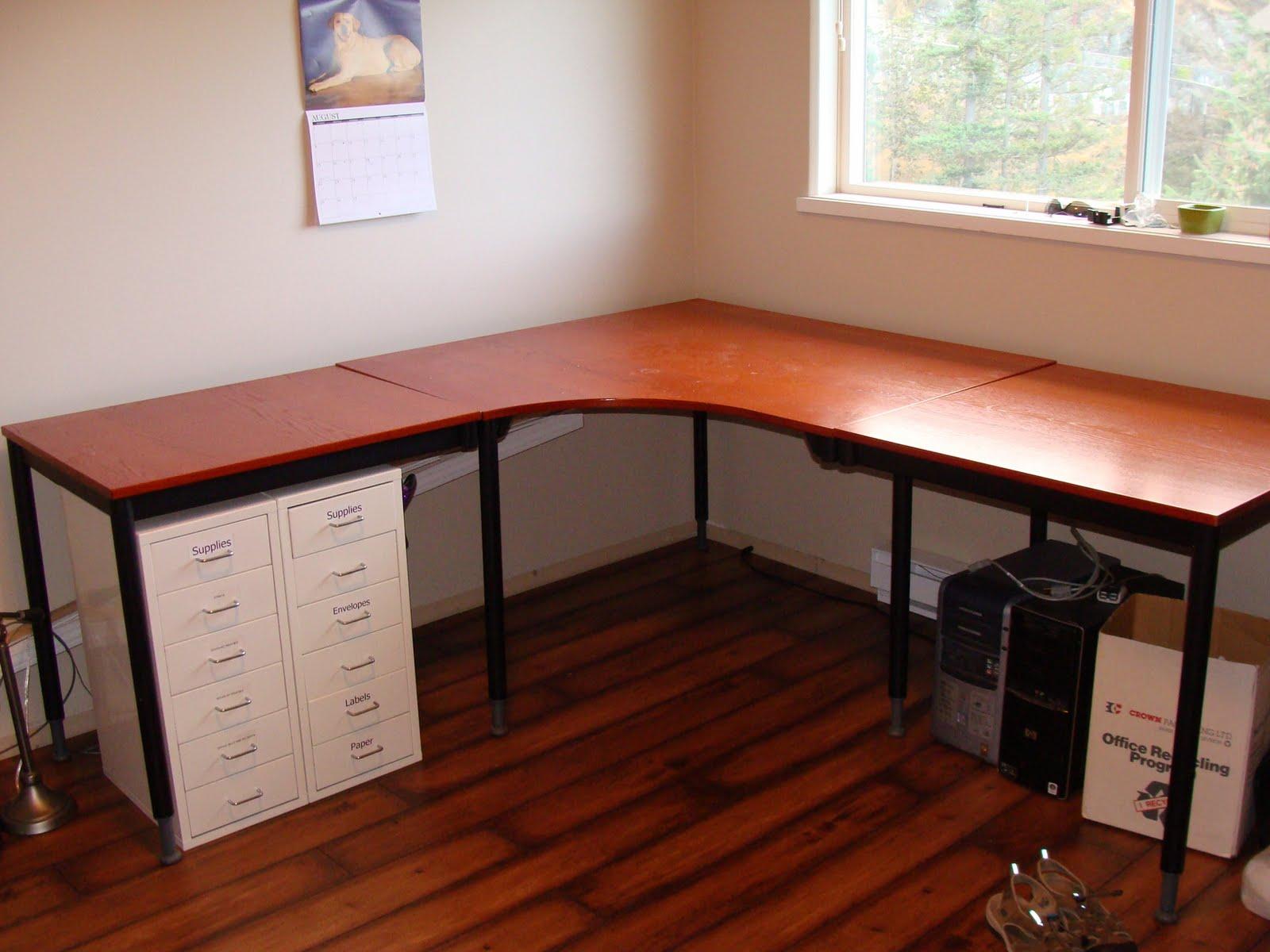 Pottery Barn Inspired Desk Transformation IKEA Hackers